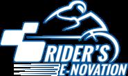 Logo blanc détouré bleu aplati