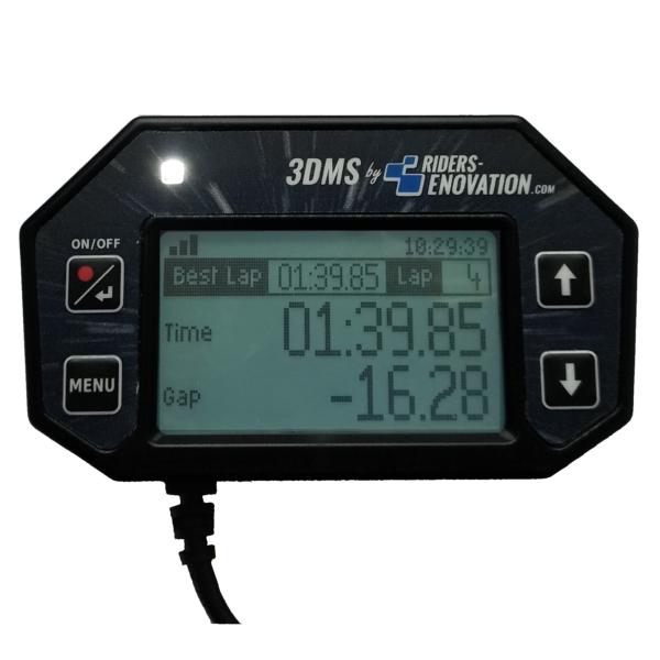 Ecran 3DMS chronomètre meilleur tour
