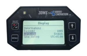 Ecran 3DMS choix langue anglais