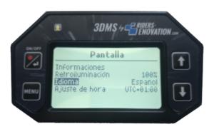 Ecran 3DMS choix langue espagnol
