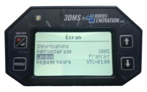 Ecran 3DMS choix langue français