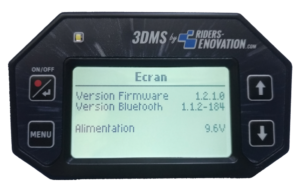 Ecran 3DMS version firmware
