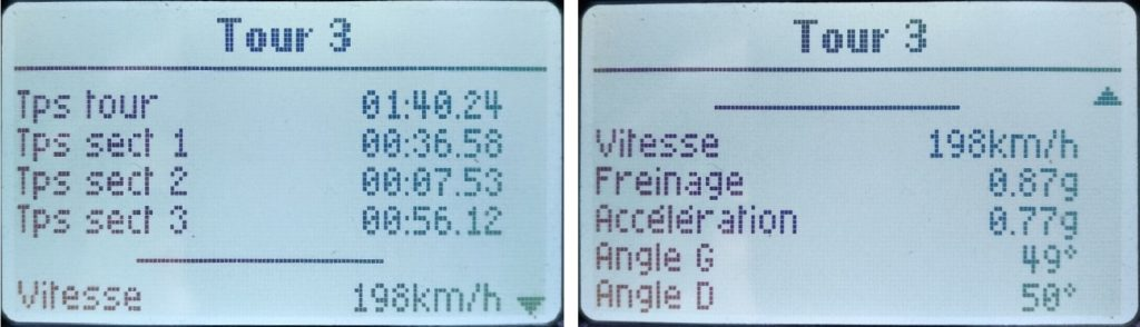 écran 3dms chronos données tour