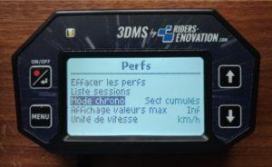 Ecran 3DMS Mode Chronométrage